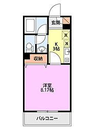 イーグルスマンション[3-B号室]の間取り