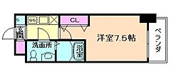 ラグゼ海老江[14階]の間取り