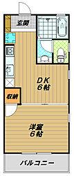 兵庫県神戸市須磨区大手町3丁目の賃貸アパートの間取り