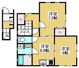 [テラスハウス] 東京都杉並区下井草2丁目 の賃貸【/】の間取り