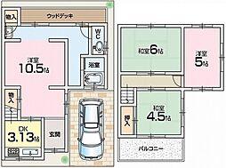 [テラスハウス] 大阪府枚方市星丘1丁目 の賃貸【/】の間取り