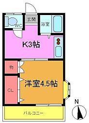第一小宮荘[2階]の間取り