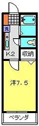 ベル・エキップ常盤台[202号室]の間取り
