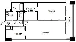 北海道札幌市中央区北五条西11丁目の賃貸マンションの間取り