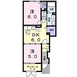 新潟県見附市双葉町の賃貸アパートの間取り