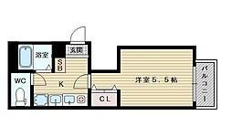 ラフィーネ淡路[4階]の間取り