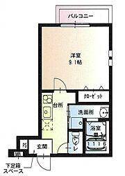 JR阪和線 堺市駅 徒歩5分の賃貸アパート 1階1Kの間取り