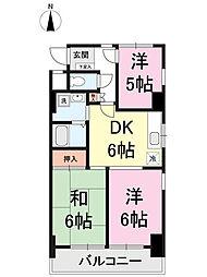 クレール・ミヤ[2階]の間取り
