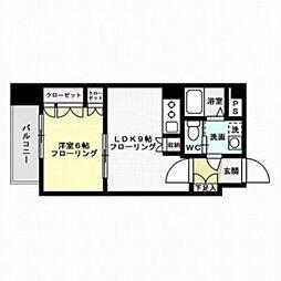 福岡県福岡市中央区薬院4丁目の賃貸マンションの間取り