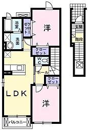プリムローズB[2階]の間取り