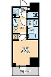 京急本線 大森海岸駅 徒歩8分の賃貸マンション 8階1Kの間取り