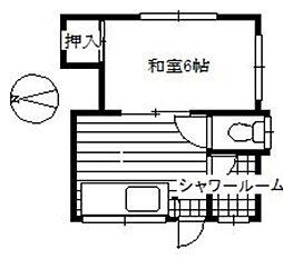 幸洋アパート[202号室]の間取り