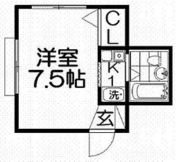 ハイツアラキ[2階]の間取り