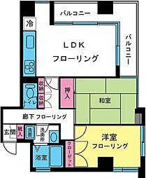 東京都八王子市追分町の賃貸マンションの間取り