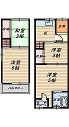 [テラスハウス] 大阪府堺市北区北長尾町3丁 の賃貸【/】の間取り