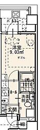Randor Residence Fukuoka 2階1Kの間取り