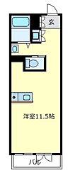 大阪府松原市天美北3丁目の賃貸アパートの間取り