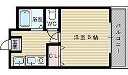 コスモセブン[2階]の間取り