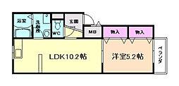 兵庫県川西市下財町の賃貸マンションの間取り