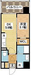 modern palazzo住吉[9階]の間取り