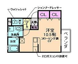 シルクコートC棟[1階]の間取り