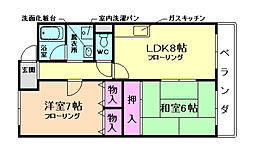 メゾンオークラ[2階]の間取り