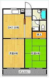 東京都青梅市今寺4丁目の賃貸マンションの間取り