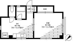 コーポ駒沢PーII[2階]の間取り