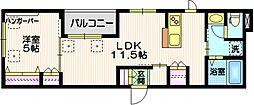 JR山手線 五反田駅 徒歩14分の賃貸マンション 3階1LDKの間取り