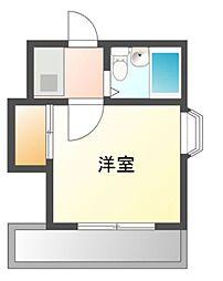 愛知県岡崎市板屋町の賃貸アパートの間取り