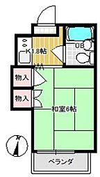 63ビル(ムツミビル)[308号室]の間取り