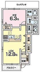 コート・ドール蛍ヶ丘[1階]の間取り