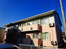 茨城県筑西市伊佐山の賃貸アパートの外観