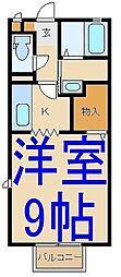 栃木県小山市東城南4丁目の賃貸アパートの間取り