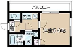 フェリーチェ吉祥寺A 3階1Kの間取り