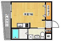 シャンポール福大[2階]の間取り