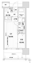 福岡市地下鉄空港線 赤坂駅 徒歩9分の賃貸マンション 4階1LDKの間取り