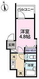 JR京浜東北・根岸線 大宮駅 徒歩7分の賃貸アパート 3階1Kの間取り