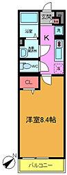 リブリ・akari[1階]の間取り