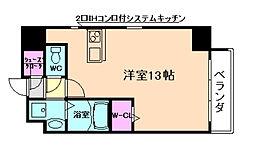 JR大阪環状線 桜ノ宮駅 徒歩4分の賃貸マンション 9階ワンルームの間取り