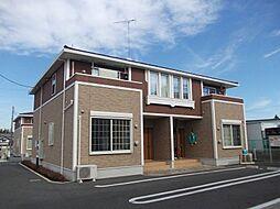 茨城県筑西市横島の賃貸アパートの外観