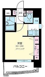 東京都港区赤坂2丁目の賃貸マンションの間取り