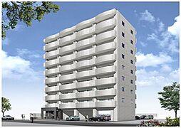 (仮称)港3丁目マンション新築工事[201号室]の外観