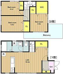 [一戸建] 神奈川県大和市柳橋2丁目 の賃貸【/】の間取り
