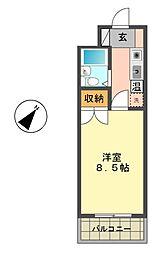 愛知県名古屋市名東区新宿1丁目の賃貸マンションの間取り