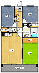 日野山パークハイツ[306号室]の間取り