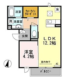 兵庫県三木市志染町青山5丁目の賃貸アパートの間取り