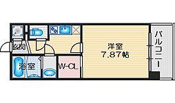 フォレステージュ江坂公園 3階1Kの間取り