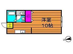 片島サンプラザ[201号室]の間取り