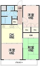 ひかりマンション[2階]の間取り